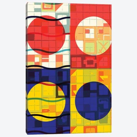 Four Circles Abstract Canvas Print #EMM132} by Emmanuel Signorino Canvas Wall Art