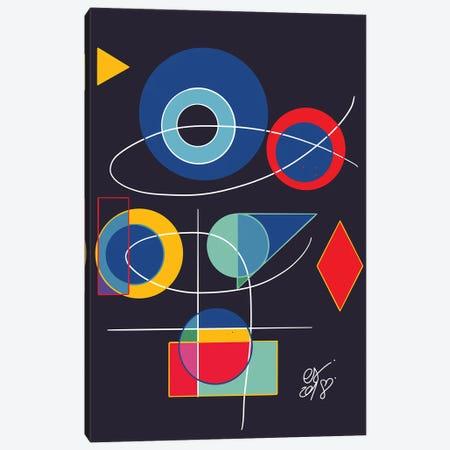 Joyful Abstract Geometric Canvas Print #EMM138} by Emmanuel Signorino Canvas Wall Art