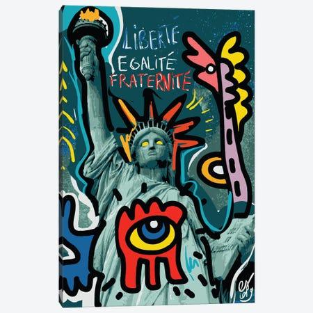 Liberté Egalité Fraternité Canvas Print #EMM143} by Emmanuel Signorino Art Print