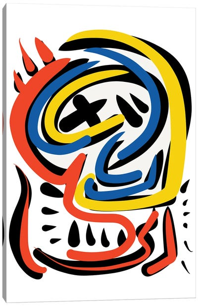 Abstract Face Full Of Energy Canvas Art Print
