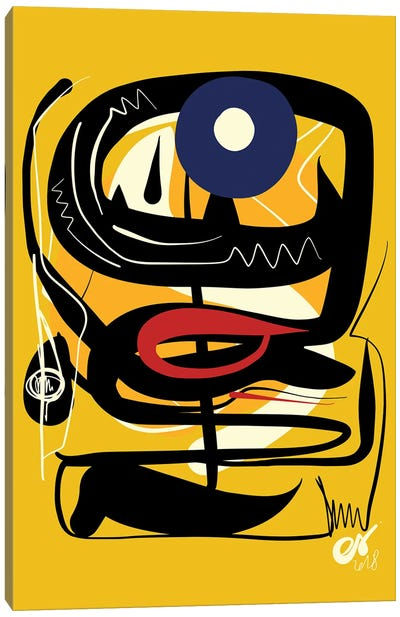 Yellow African Blue Eye Canvas Art Print