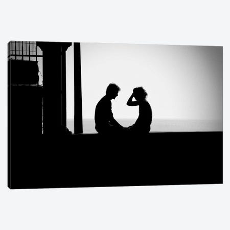 Love Is You And Me And The Sea Canvas Print #EMM155} by Emmanuel Signorino Art Print