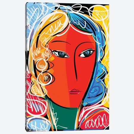 Expressionist Orange Paper Of A Girl Canvas Print #EMM156} by Emmanuel Signorino Canvas Print