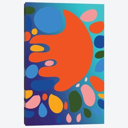 Gradient Blue And Orange Shape Of Love Canvas Print #EMM161} by Emmanuel Signorino Canvas Print