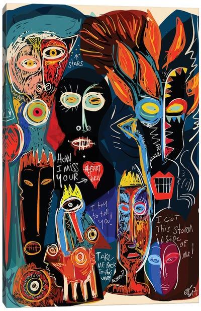 How I Miss Your Quiet Heart Canvas Art Print