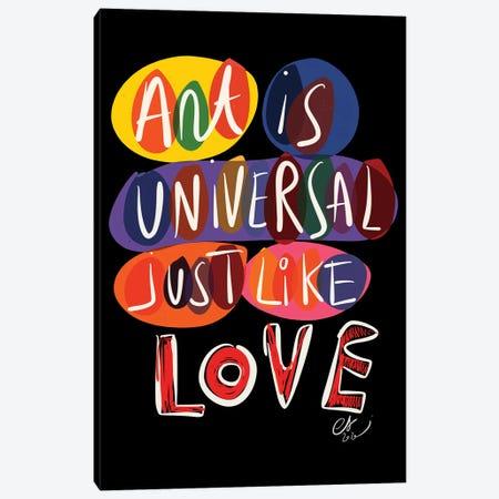 Art Is Universal Like Love Canvas Print #EMM16} by Emmanuel Signorino Canvas Print