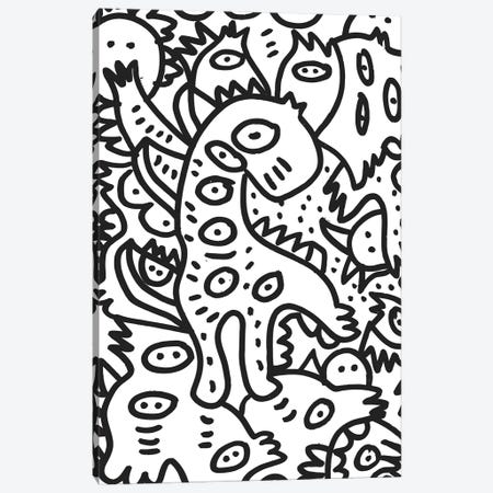 Cool Graffiti Dino Canvas Print #EMM179} by Emmanuel Signorino Canvas Artwork