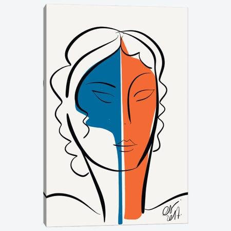 The Blue Orange Girl Canvas Print #EMM182} by Emmanuel Signorino Canvas Art Print
