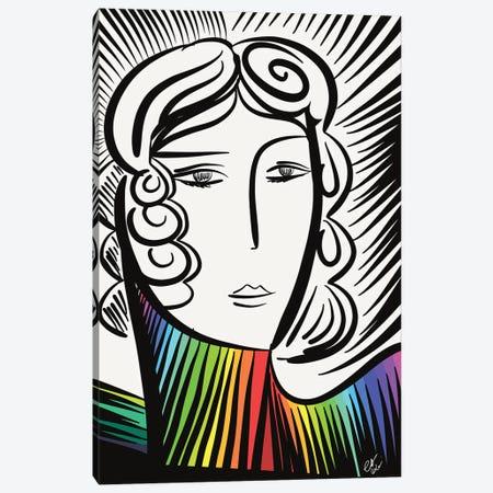 The Rainbow Girl Canvas Print #EMM183} by Emmanuel Signorino Canvas Print