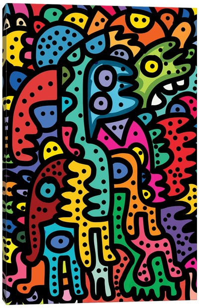 The Puzzle Creatures Canvas Art Print