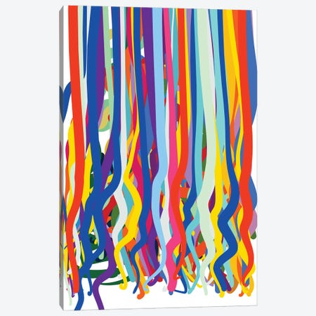 Dripping Colours Pop Art Canvas Print #EMM195} by Emmanuel Signorino Art Print