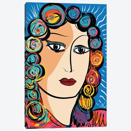 Portrait Of Woman In The Light Canvas Print #EMM196} by Emmanuel Signorino Art Print
