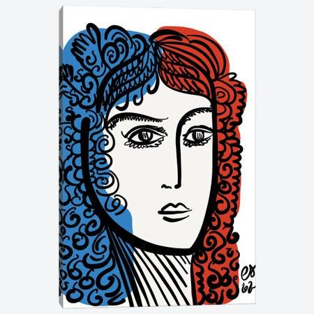 French Minimal Portrait Canvas Print #EMM201} by Emmanuel Signorino Canvas Artwork