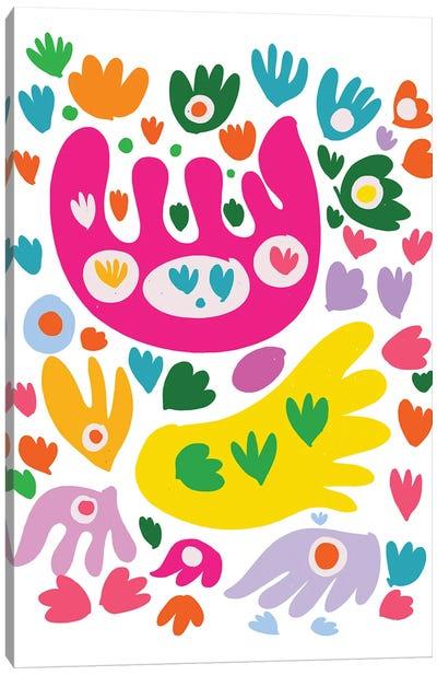 Pastel Butterflies Abstract Illustration Canvas Art Print