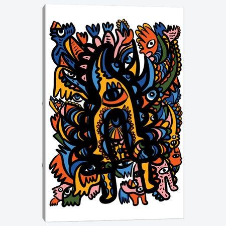 Pre-Colombian Mystic Graffiti Art Canvas Print #EMM212} by Emmanuel Signorino Canvas Print