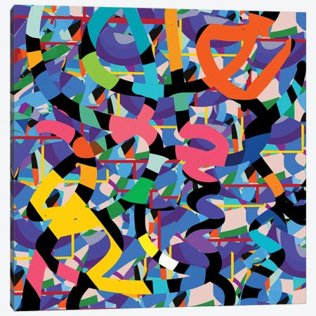 Terrazzo Abstract Confetti Canvas Print #EMM213} by Emmanuel Signorino Canvas Print