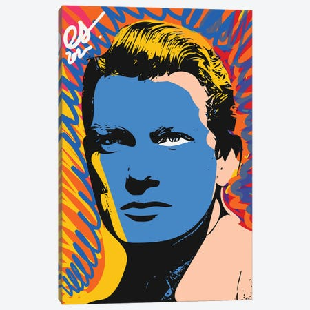 Jean Marais Pop Art Portrait Canvas Print #EMM217} by Emmanuel Signorino Canvas Artwork