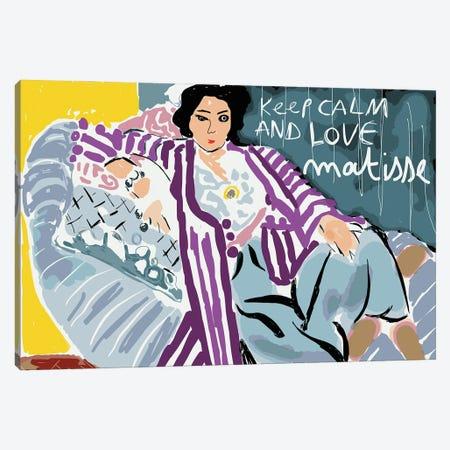 Keep Calm And Love Matisse Canvas Print #EMM21} by Emmanuel Signorino Art Print