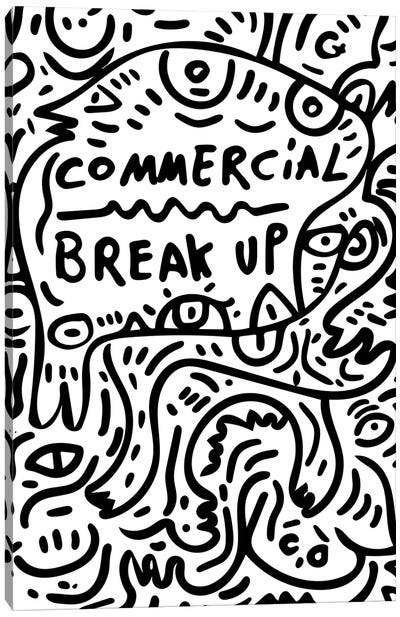 Commercial Break Up Graffiti Canvas Art Print