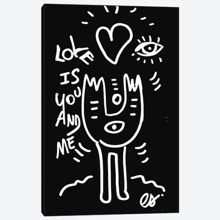 Love Is You And Me Canvas Print #EMM29} by Emmanuel Signorino Canvas Art Print