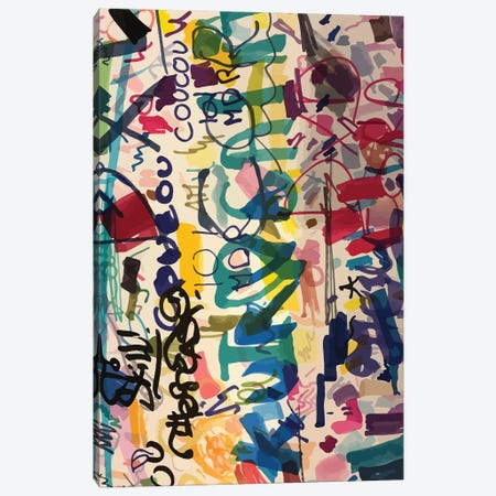Graffiti Urban Art People's Writing Canvas Print #EMM32} by Emmanuel Signorino Canvas Wall Art