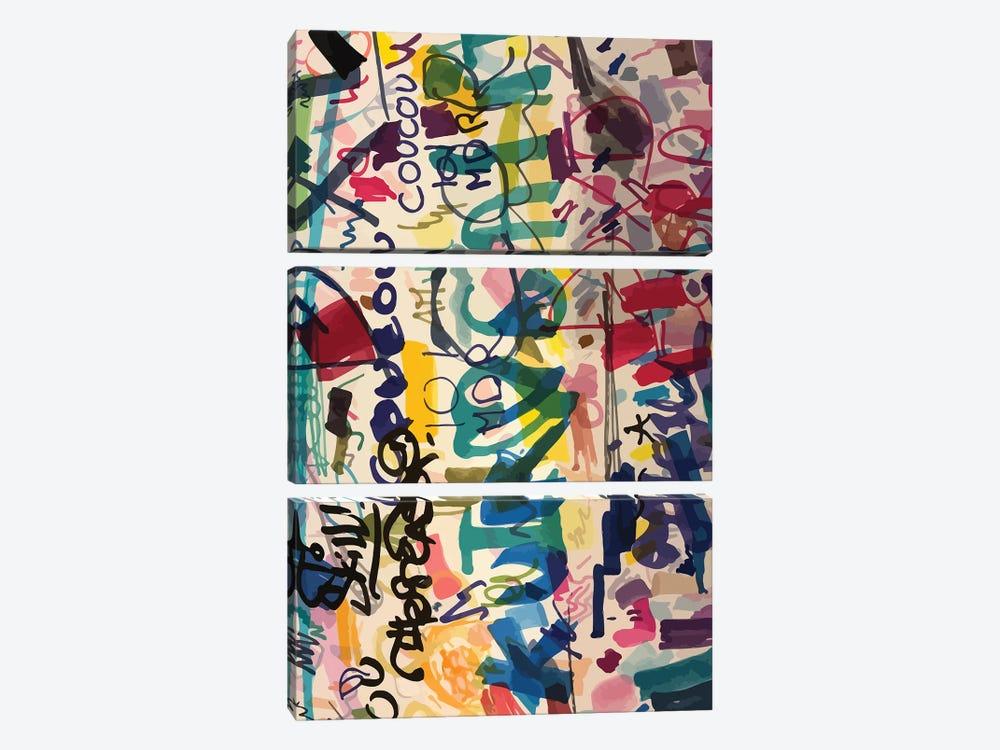 Graffiti Urban Art People's Writing by Emmanuel Signorino 3-piece Art Print