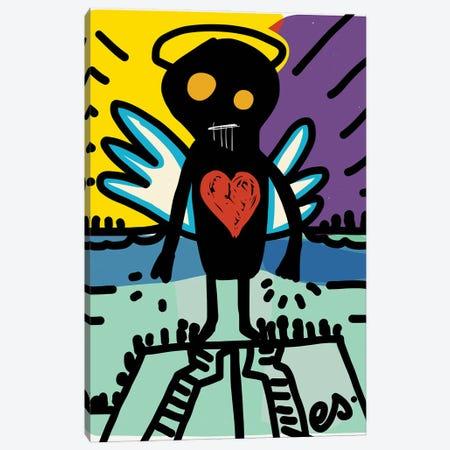 Black Angel Of Love Canvas Print #EMM33} by Emmanuel Signorino Canvas Artwork
