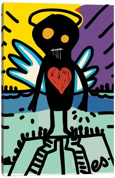 Black Angel Of Love Canvas Art Print