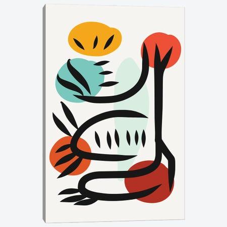African Minimal Symbolic Tree Canvas Print #EMM35} by Emmanuel Signorino Art Print