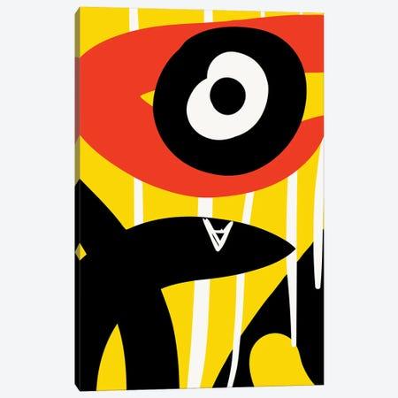 Black Eye Red Symbol Canvas Print #EMM37} by Emmanuel Signorino Art Print
