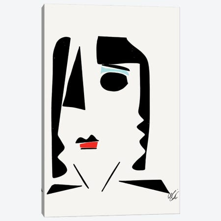 Minimal Geometric Portrait Of A Woman Canvas Print #EMM42} by Emmanuel Signorino Art Print