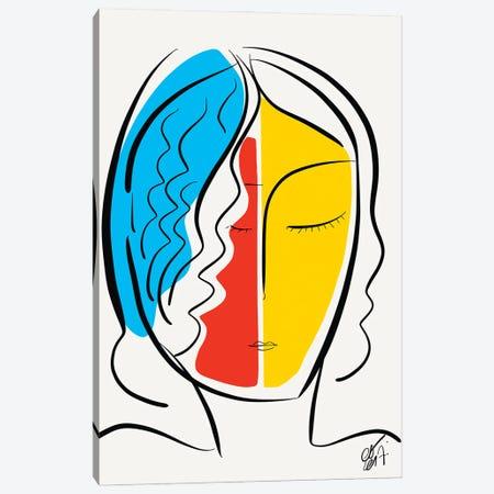 Graphic Minimal French Portrait Canvas Print #EMM46} by Emmanuel Signorino Canvas Artwork