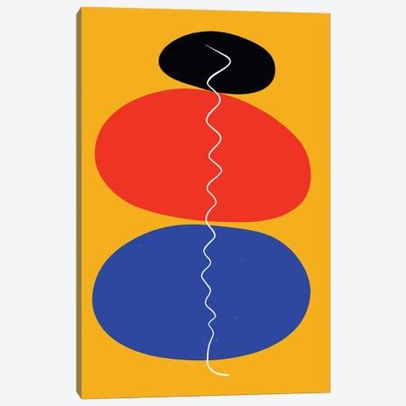 Zen Stones In Yellow Canvas Print #EMM63} by Emmanuel Signorino Art Print