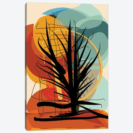 Tree In The African Sunset Canvas Print #EMM66} by Emmanuel Signorino Canvas Art