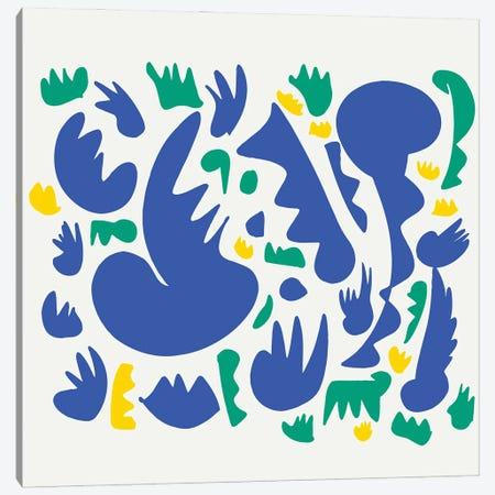 Blue Jazz And Green Grass Canvas Print #EMM70} by Emmanuel Signorino Canvas Wall Art