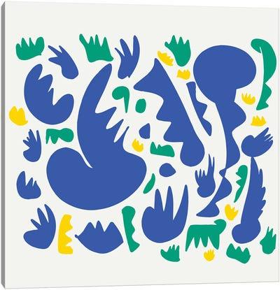 Blue Jazz And Green Grass Canvas Art Print