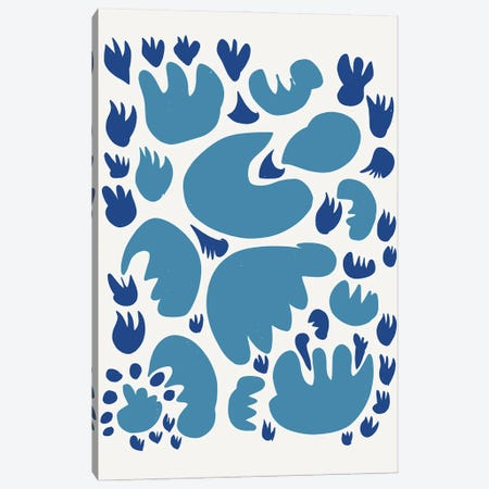 Blue Cuts Out Abstract Canvas Print #EMM72} by Emmanuel Signorino Canvas Wall Art