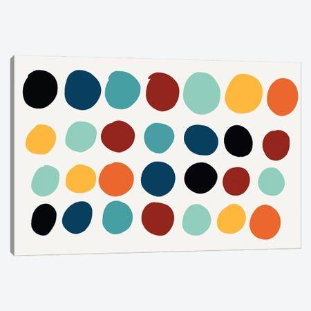 Dots Pills Abstract Art Canvas Print #EMM74} by Emmanuel Signorino Canvas Art Print