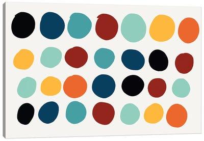 Dots Pills Abstract Art Canvas Art Print
