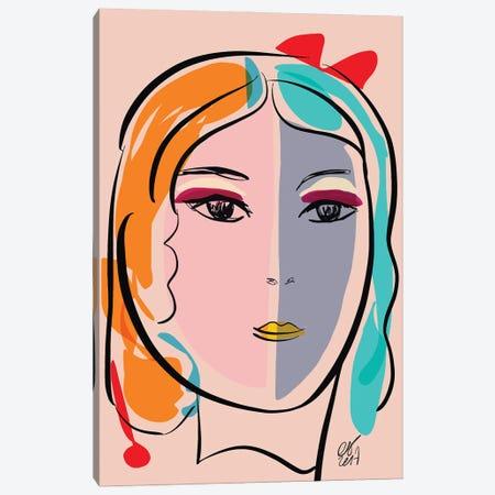 Pastel Portrait Of Stefania Canvas Print #EMM87} by Emmanuel Signorino Canvas Wall Art