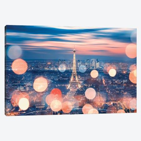 Sparkling Paris Canvas Print #EMN104} by Manjik Pictures Canvas Wall Art