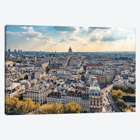 Sweet Paris Light Canvas Print #EMN107} by Manjik Pictures Canvas Art