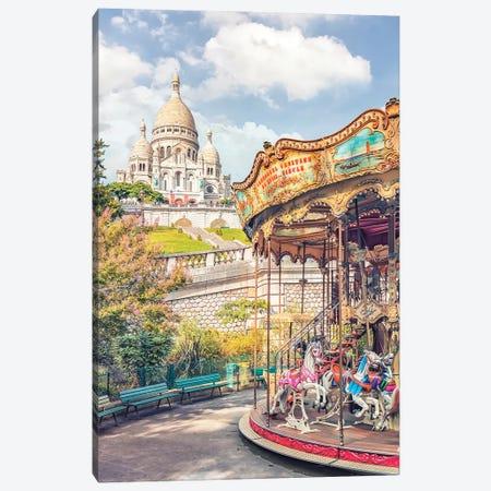 Sunny Montmartre Canvas Print #EMN108} by Manjik Pictures Canvas Art Print