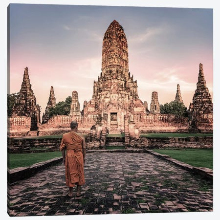 Ayutthaya Evening Canvas Print #EMN10} by Manjik Pictures Canvas Art Print