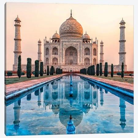 Taj Mahal Morning Canvas Print #EMN111} by Manjik Pictures Canvas Artwork