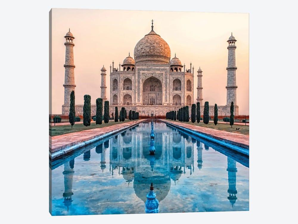 Taj Mahal Morning by Manjik Pictures 1-piece Canvas Artwork
