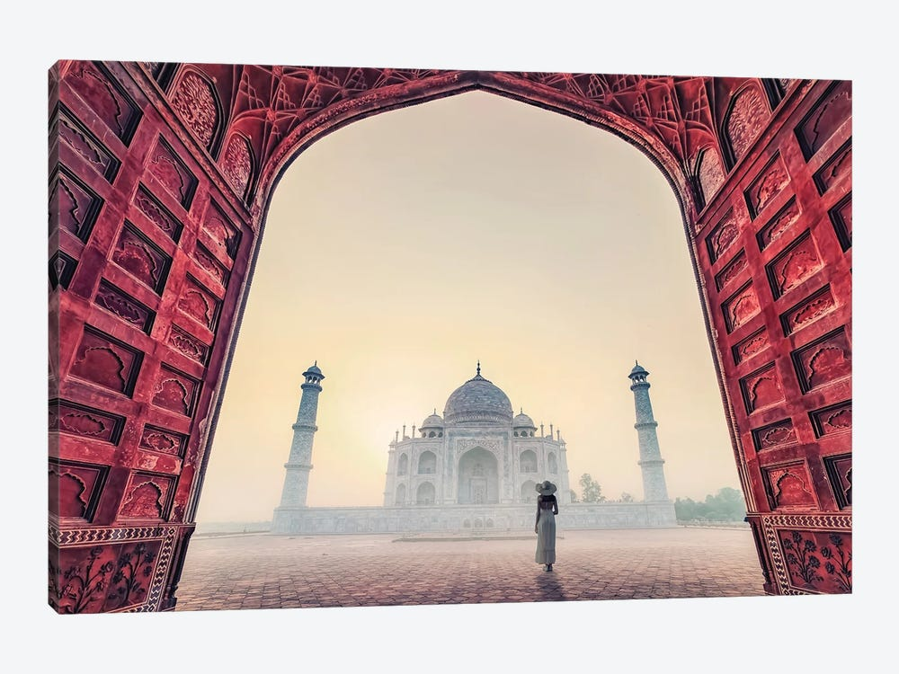 The Lady In The Fog by Manjik Pictures 1-piece Canvas Art Print
