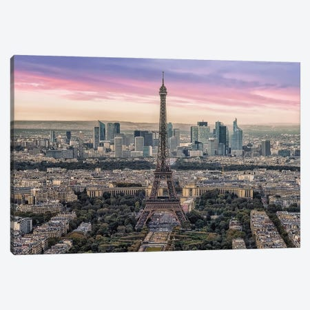 The Beauty Of Paris Canvas Print #EMN135} by Manjik Pictures Canvas Print