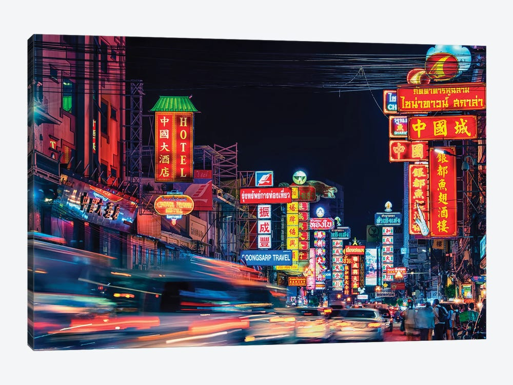 Chinatown by Manjik Pictures 1-piece Canvas Wall Art