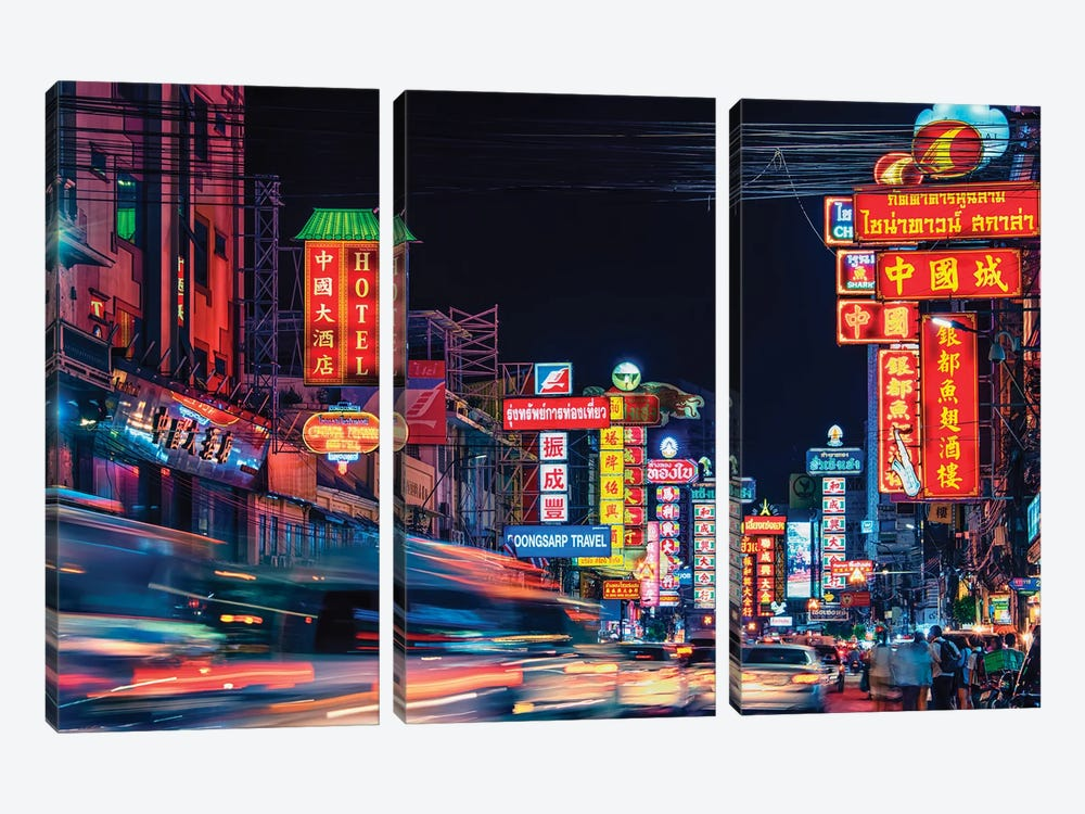 Chinatown by Manjik Pictures 3-piece Canvas Wall Art